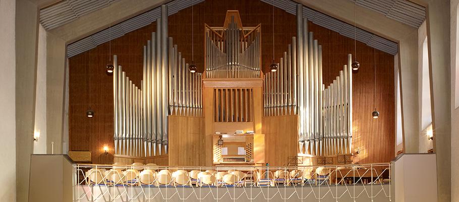 Die Orgel der Neuen St. Nicolai-Kirche Frankfurt am Main